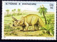 St Thomas and Prince 1982 Dinosaurs c