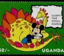 Uganda 1993 Mickey Mouse and Friends with Dinosaurs