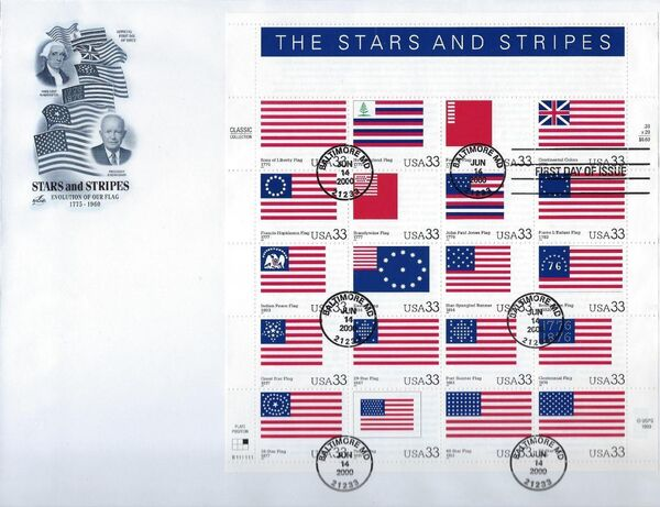 United States of America 2000 The Stars and Stripes FDCa