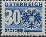 Austria 1935 Coat of Arms and Digit j