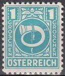 Austria 1945 Posthorn a