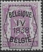 Belgium 1938 Coat of Arms - Precancel (4th Group) b