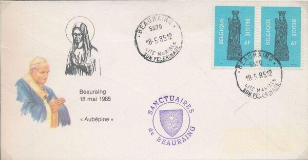 Belgium 1985 Visit of Pope John Paul II FDCe