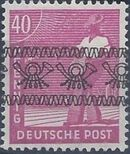British and American Zone 1948 Overprinted with Posthorn Ribbon l