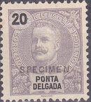Ponta Delgada 1897 D. Carlos I SPe