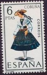 Spain 1968 Regional Costumes Issue c