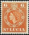 St Lucia 1953 Queen Elizabeth II and Arms of St Lucia f.jpg