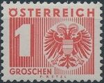 Austria 1935 Coat of Arms and Digit a