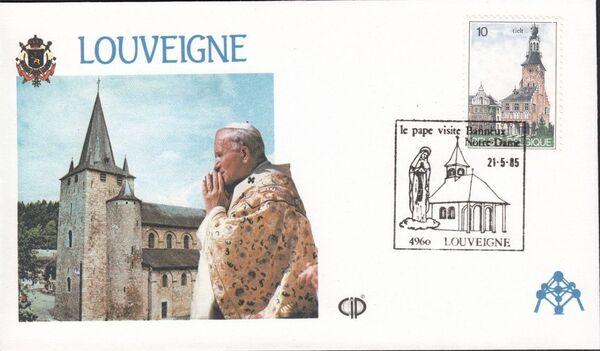 Belgium 1985 Visit of Pope John Paul II FDCu