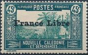 "New Caledonia 1941 Definitives of 1928 Overprinted in black ""France Libre"" m"
