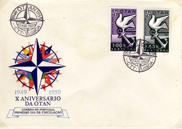Portugal 1960 10th Anniversary of NATO FDCa