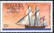 St Lucia 1976 200th Anniversary of American Revolution - Revolutionary Era Ships e