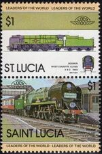 St Lucia 1983 Leaders of the World - LOCO 100 e