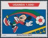 Uganda 1992 Walt Disney Characters on World Tour h