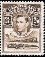 Basutoland 1938 George VI, Crocodile and River Scene i
