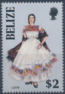 Belize 1986 Women in Folk Costumes h