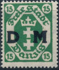 """Danzig 1921 Issues from 1921-1922 Overprinted """"D M"""" c"""