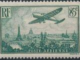 France 1936 Plane over Paris