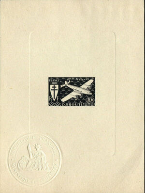 French Somali Coast 1941 Airmail k