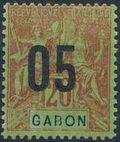 Gabon 1912 Navigation and Commerce Surcharged d