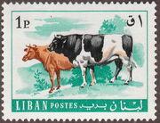 Lebanon 1968 Farm Animals b