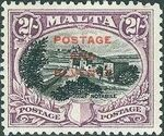 Malta 1928 Definitives of 1926-1927 Ovpt POSTAGE AND REVENUE c