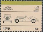 Nevis 1986 Leaders of the World - Auto 100 (5nd Group) g