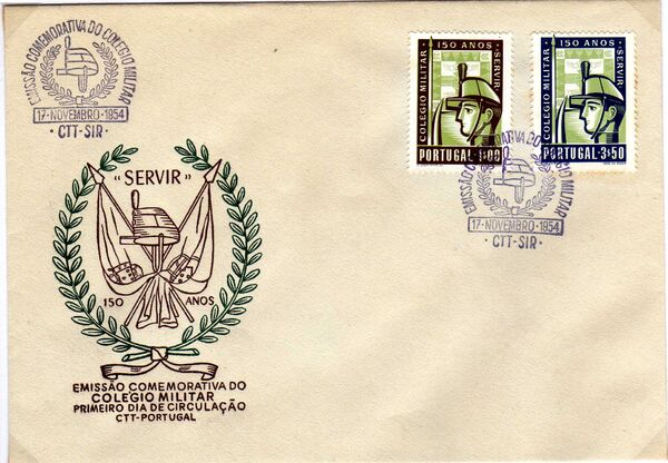 Portugal 1954 150th Anniversary of Military College c