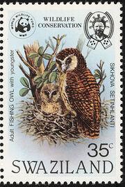 Swaziland 1982 WWF Pel's Fishing Owl d