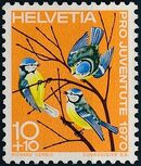 Switzerland 1970 PRO JUVENTUTE - Birds a