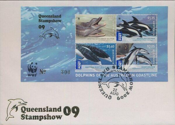 Australia 2009 WWF - Dolphins of the Australian Coastline FDCg