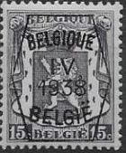 Belgium 1938 Coat of Arms - Precancel (4th Group) a