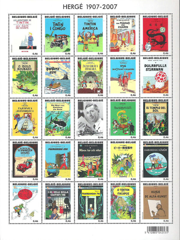 Belgium 2007 Tintin book covers translated za