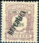 St Thomas and Prince 1913 Postage Due Stamps - 1st Overprint g