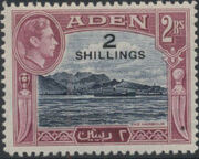 Aden 1951 King George VI Pictorials with New Values i