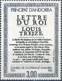 Andorra-French 1983 30th Anniversary of Customs Cooperation Council a