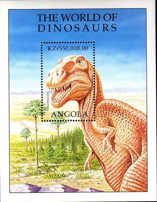 Angola 1998 Prehistoric Animals (1st Group) SSa