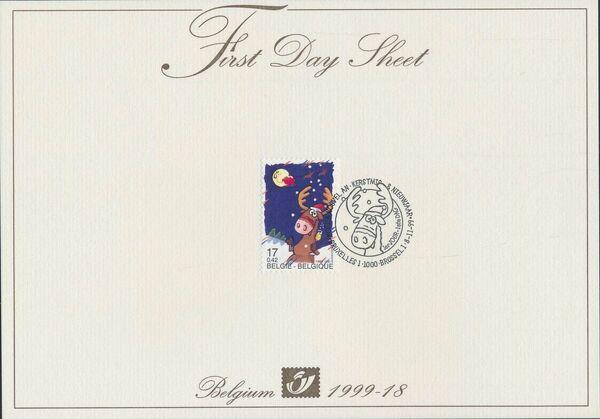 Belgium 1999 Christmas FDSa