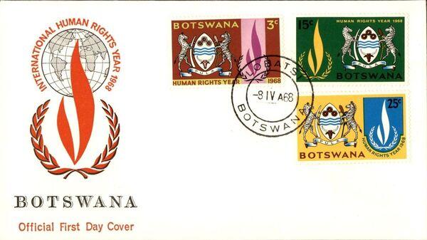 Botswana 1968 International Human Rights Year FDCa