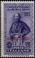 Italy (Aegean Islands)-Castelrosso 1932 50th Anniversary of the Death of Giuseppe Garibaldi j