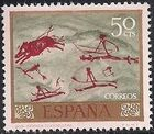 Spain 1967 - Wall Paintings from Paleolithic and Mesolithic Found in Spanish Caves b