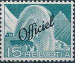 Switzerland 1950 Engineering - Switzerland Postage Stamps of 1949 Overprinted Officiel d