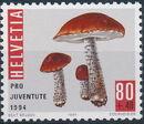 Switzerland 1994 PRO JUVENTUTE - Christmas Candles and Mushrooms c
