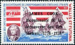 Wallis and Futuna 1978 Bicentenary of the arrival of Capt. Cook in Hawaiian Islands b