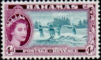 Bahamas 1954 Queen Elisabeth II and Landscapes Issue g