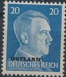 German Occupation-Russia Ostland 1941 Stamps of German Reich Overprinted in Black k
