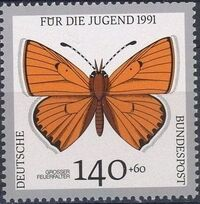 Germany-Unified 1991 Endangered Butterflies h