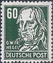Germany DDR 1952 Famous People l