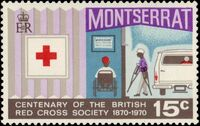 Montserrat 1970 Centenary of British Red Cross Society c