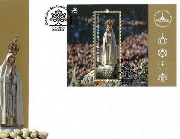 Portugal 2017 Centenary of the Apparitions at Fatima FDCa